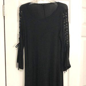 Express - Black Tunic Dress with Corset Sleeves
